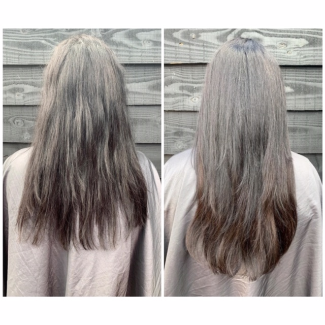 Before and after wow hairweaves Daisy knaflewski