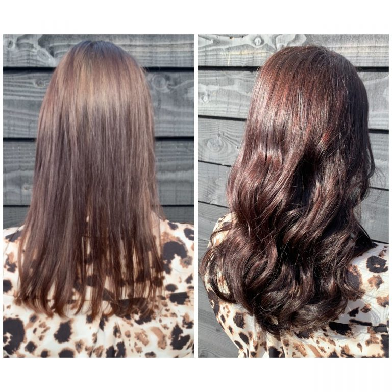 before and after hairweaves laureen